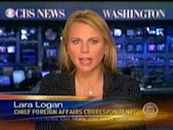 Lara Logan leaving hospital