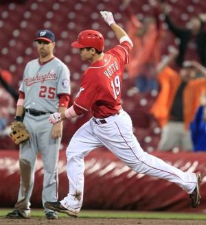 Votto's slam, 3 HRs rally Reds past Nationals 9-6
