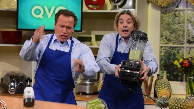 Arnold Schwarzenegger and Jimmy Fallon -- Getty Images