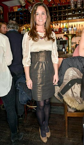 Pippa Middleton on November 26, 2012 at Barts bar in London, England