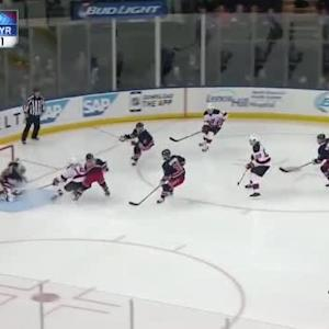 Henrik Lundqvist Save on Jon Merrill (00:25/2nd)