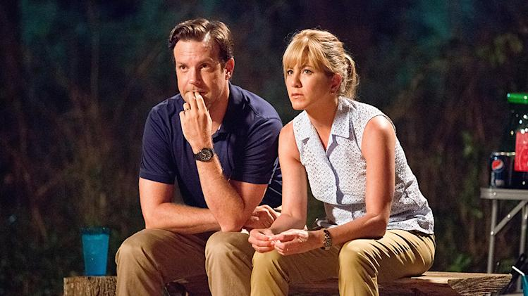 "Jason Sudeikis and Jennifer Aniston in Warner Bros.' ""We're The Millers"" - 2013"