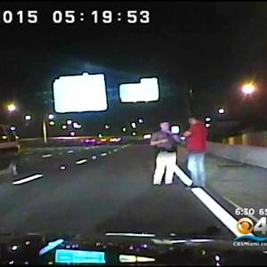 Exclusive: Police Dash Cam Video Of Wrong-Way Driver