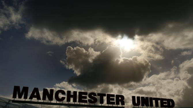 Rain clouds gather above Manchester United's Carrington training complex in Manchester