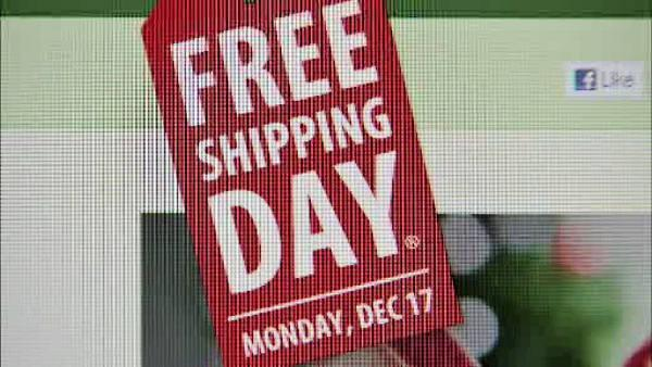 Online retailers offer Free Shipping today