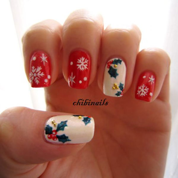 Best Christmas nail art © chibinails / tumblr