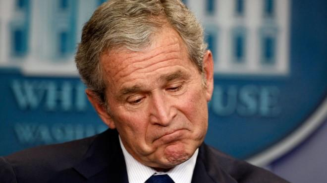 George W. Bush holds one of his last news conferences in January 2009.