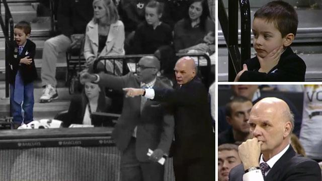 Phil Martelli's 4-year-old grandson helped coach during A10 championship