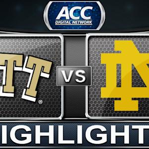 Pittsburgh vs Notre Dame | 2014 ACC Basketball Highlights