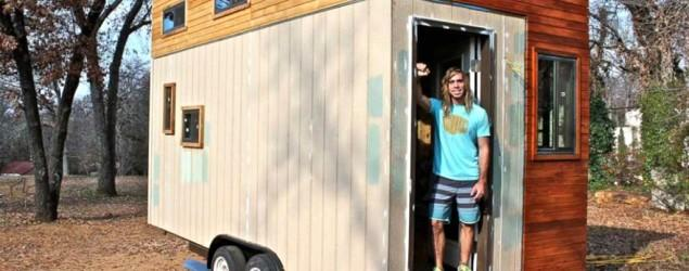 Student builds himself a 145-square-foot home