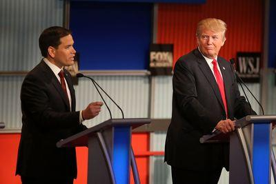 Donald Trump beats Marco Rubio in a head-to-head matchup among Republicans