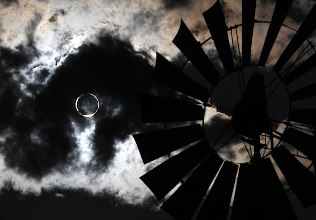 An annular eclipse, during which the moon and the sun are directly aligned, occurred in May 2012. Six months later, a total eclipse of the sun was seen by millions throughout parts of the Earth. (Cathleen Allison/AP Photo)