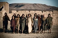 Jesus (Diogo Morgado) and all his disciples.