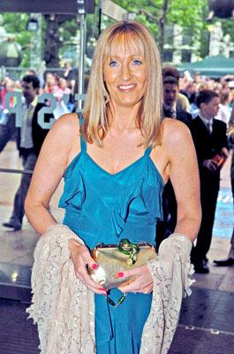 J.K. Rowling at the London premiere of Warner Brothers' Harry Potter and the Prisoner of Azkaban