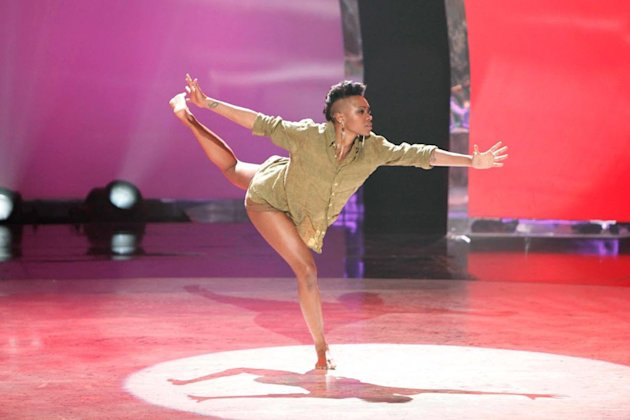 "Contestant Sasha Mallory performs a solo routine to ""Syrup & Honey""  on ""So You Think You Can Dance."""