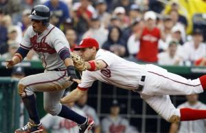 Harper returns, Nats-Braves split doubleheader