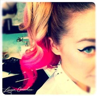 Lauren Conrad Plays Colour Chameleon with Fluro Pink Ombre Hair!