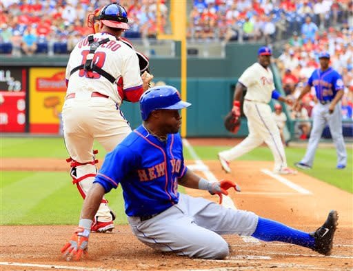 Wright, Harvey lead Mets to 8-0 rout of Phillies