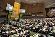 &lt;p&gt;This file photo shows the United Nations General Assembly chamber, during a vote on the status of the Palestinian Authority, on November 29, 2012, at UN headquarters in New York. UN contributions are worked out according to a country&#39;s share of global gross national income (GNI).&lt;/p&gt;