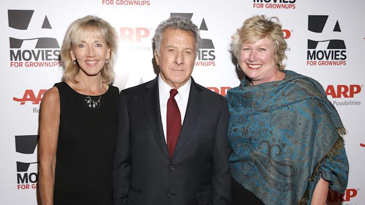 AARP The Magazine Editor-in-Chief Meg Grant, Dustin Hoffman and AARP The Magazine West Coast Editor Meg Grant attends AARP The Magazine's 12th Annual Movies for Grownups Awards at The Peninsula Hotel on February 12, 2013 in Beverly Hills, California. (Photo by Todd Williamson/Invision for AARP Magazine/AP Images)