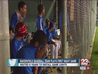 Bakersfield little league gets game lights