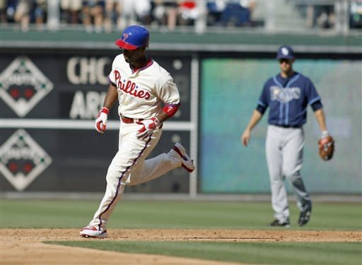 Conrad leads Rays over Lee, Phils for DH sweep