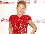 Blake Lively goes red in Marchesa