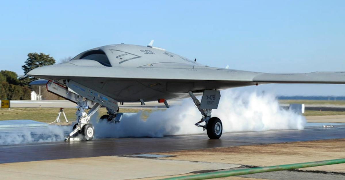 X-47B heads to sea on carrier duty