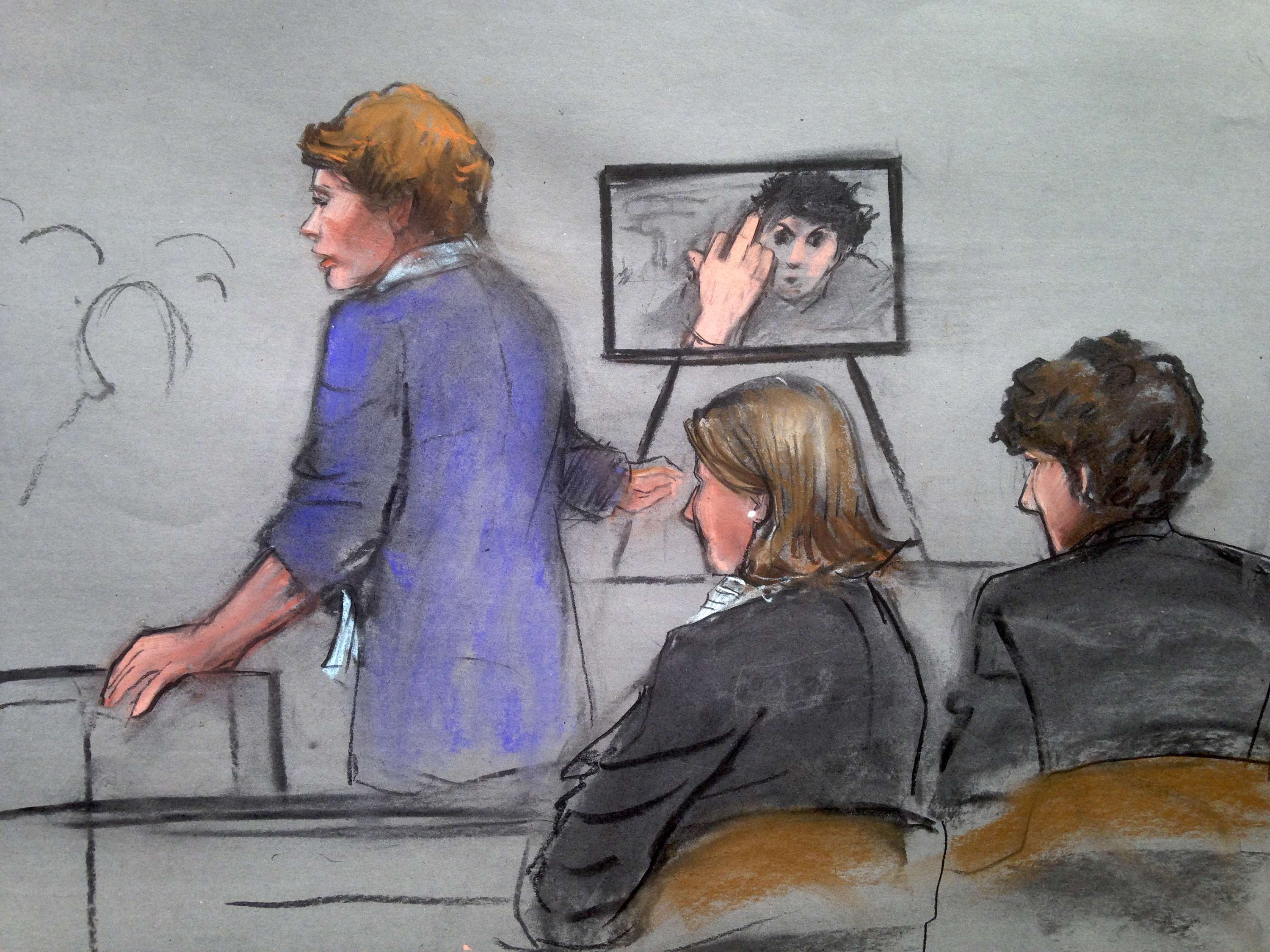 Photo of Tsarnaev giving middle finger in cell shown at trial