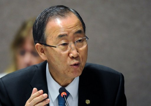 UN chief Ban Ki-moon, pictured in June 2012, on Friday called on the Security Council to consider reducing the number of unarmed military observers in Syria and put more stress on political efforts to end the conflict
