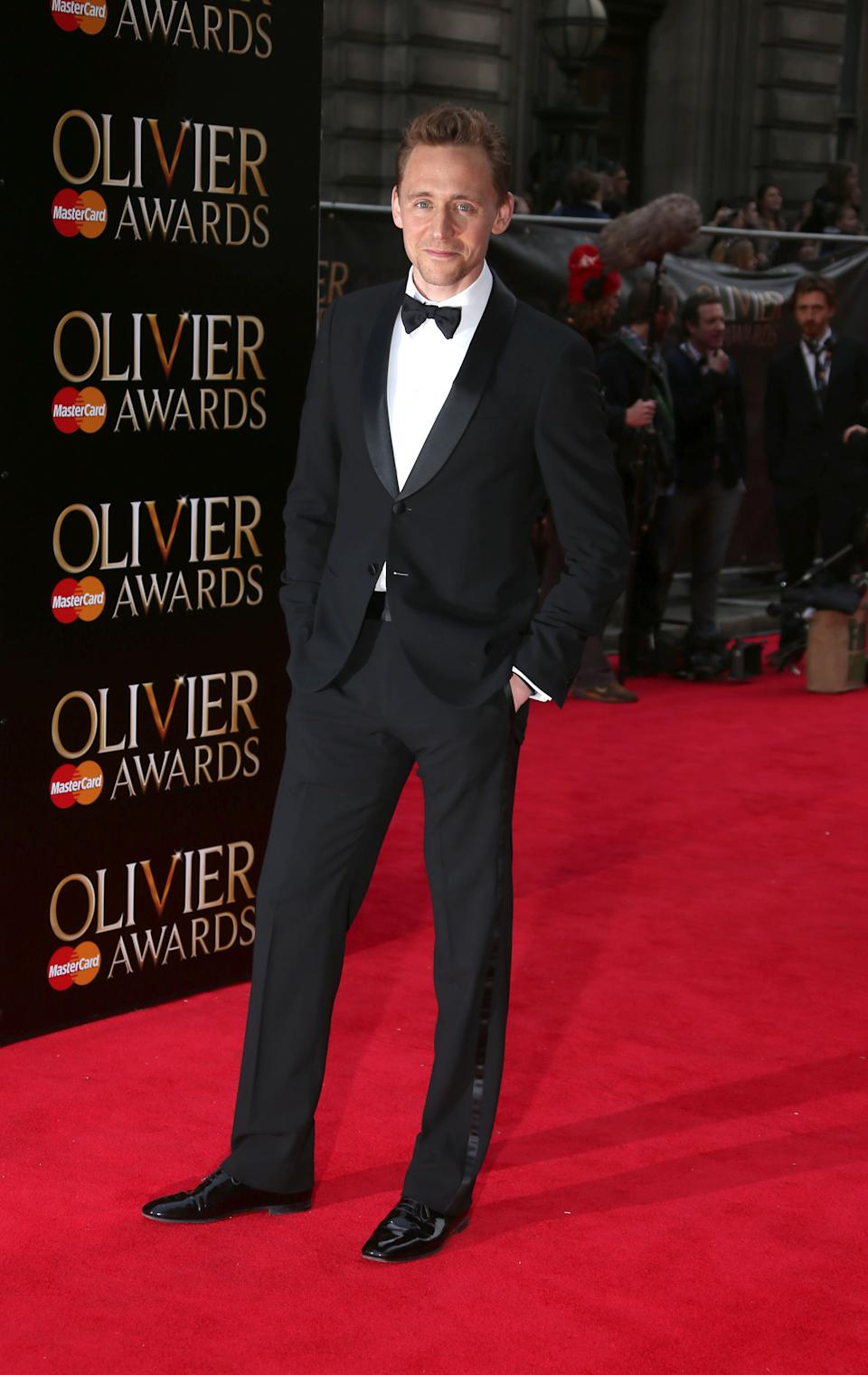 Tom Hiddleston at the Olivier Awards 2013 at the Royal opera House in London on Sunday, April 28th, 2013. (Photo by Joel Ryan/Invision/AP)
