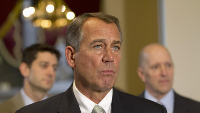 Boehner steadies GOP team, reframes deficit debate