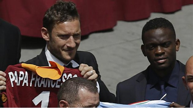 Coppa Italia - Francesco Totti incontra Papa Francesco