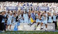Big-spending Manchester City celebrate winning the Premier League last season