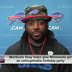 Buffalo Bills tight end MarQueis Gray helps throw an unforgettable birthday party