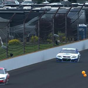 Caution for balloons on the backstretch