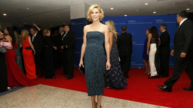 Actress Julie Bowen arrives for the annual White House Correspondents' Association dinner in Washington