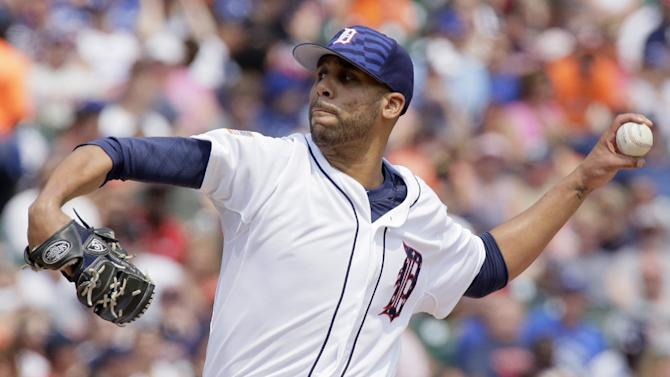Detroit Tigers pitcher David Price delivers against the Toronto Blue Jays during the seventh inning of a baseball game Saturday, July 4, 2015, in Detroit. The Tigers won 8-3. (AP Photo/Duane Burleson)