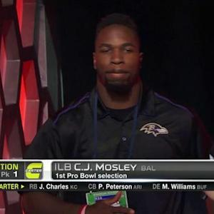 Pro Bowl Draft: Baltimore Ravens linebacker C.J Mosley goes No. 19