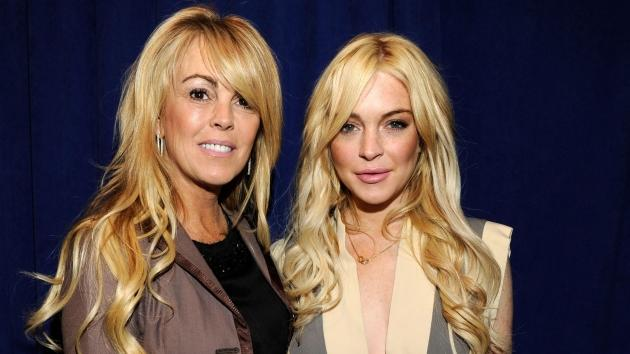 Dina Lohan and Lindsay Lohan attend the 'Gotti: Three Generations' press conference at Sheraton New York Hotel & Towers, Central Park West Room in New York City on April 12, 2011 -- Getty Premium