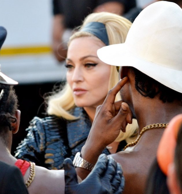 AUS ONLY Madonna stops traffic filming new music video in Florence