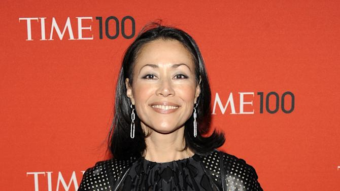 """FILE - This April 24, 2012 file photo shows NBC's Ann Curry at the TIME 100 gala at the Frederick P. Rose Hall in New York. Curry has made her first return to NBC's """"Today"""" show since she was replaced as one of its hosts in June. Curry was on the """"Today"""" set in London on Thursday to introduce a filmed report on a still photographer. She lost her job as Matt Lauer's co-anchor in June and was replaced by Savannah Guthrie. (AP Photo/Evan Agostini, file)"""