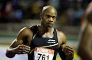 Jamaican sprinter Asafa Powell pictured after the 100m men&#39;s semi-final of the Jamaican Olympic Athletic Trials at the National Stadium in Kingston on June 29. Former 100m world record holder Powell has insisted he will be fit to run at the Olympic Games after withdrawing from the London Grand Prix with a groin strain