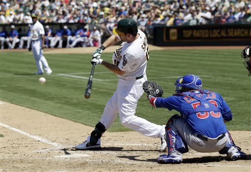 Norris scores on passed ball in A's 1-0 win