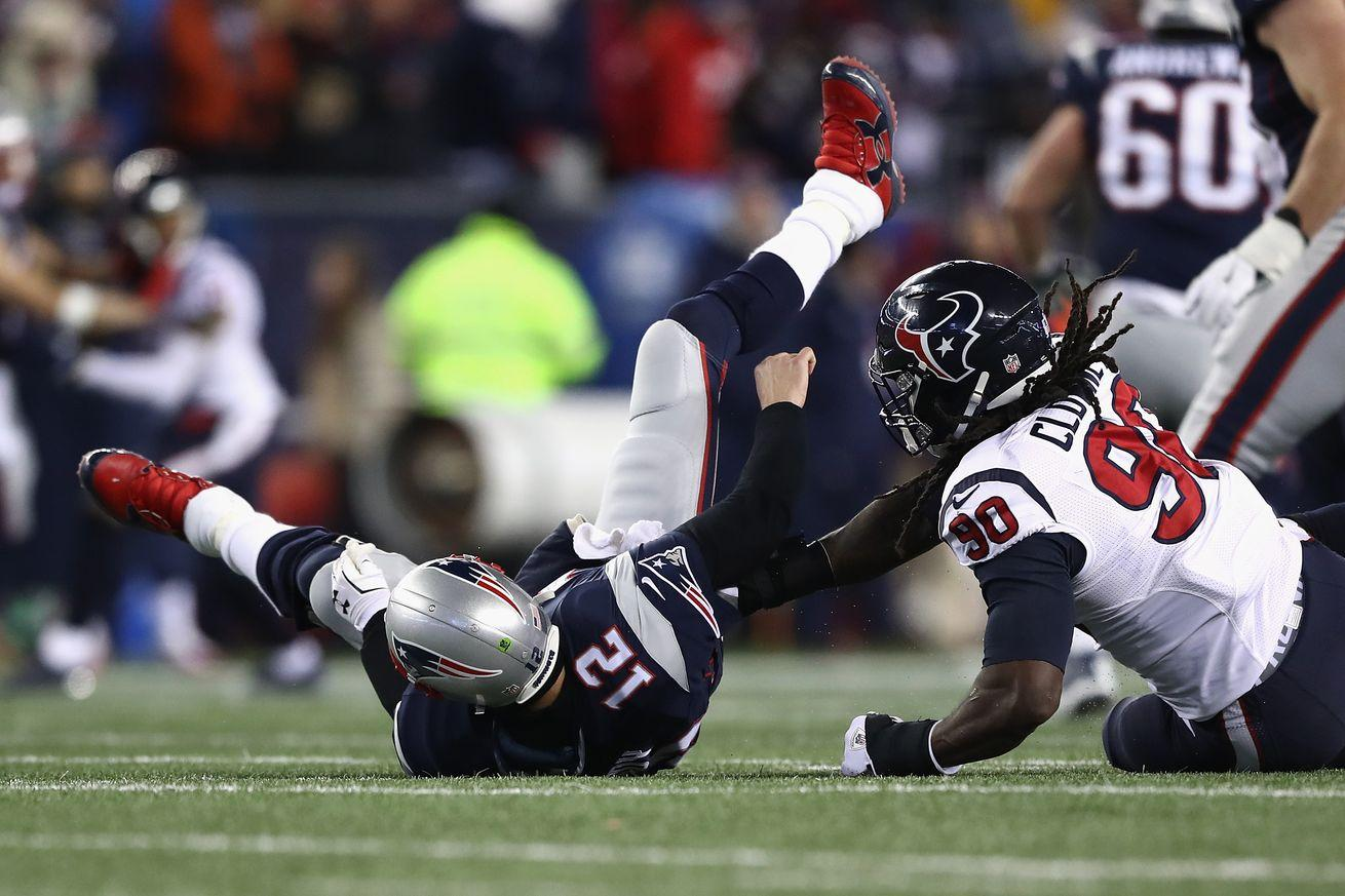 Jadeveon Clowney fined by NFL for hit on Tom Brady in Divisional Round