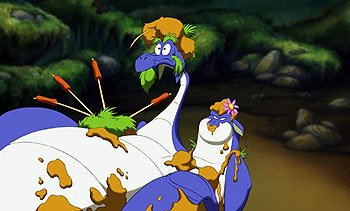 The two-headed dragon Devon and Cornwall in Warner Brothers' Quest For Camelot