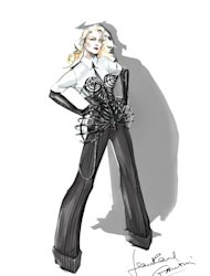 stars ninthnbsp world tour french designer drew now-iconic costume designed