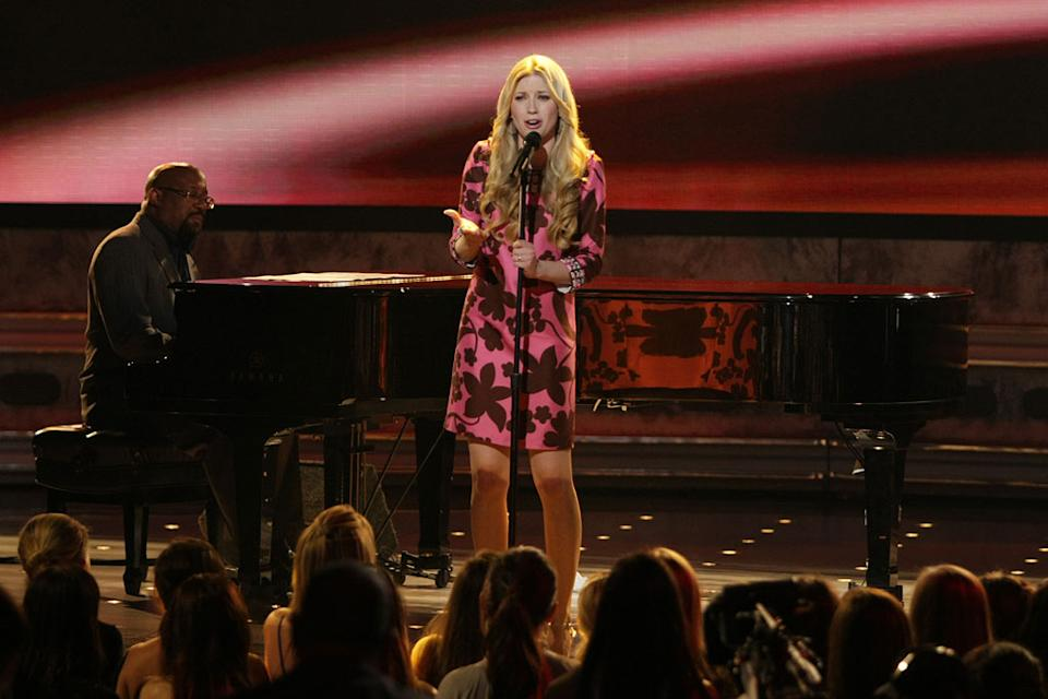 Brooke White performs as one of the top 8 on the 7th season of American Idol.