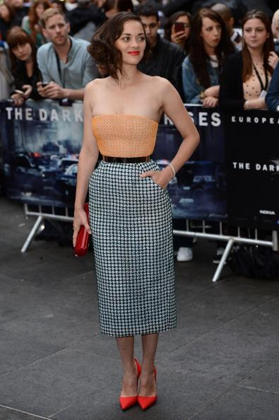 Actress Marion Cotillard attends European premiere of 'The Dark Knight Rises' at Odeon Leic