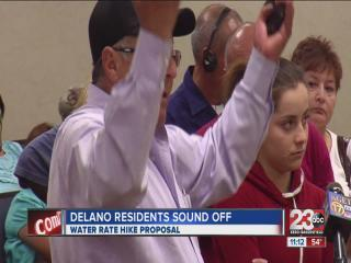 Delano water rate increase put on hold